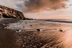 Tramonto roccioso Fotografia Stock