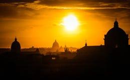Tramonto a Roma Fotografie Stock