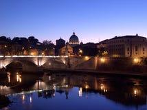 Tramonto romano Fotografie Stock