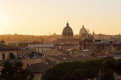 Tramonto romano del paesaggio Fotografie Stock Libere da Diritti