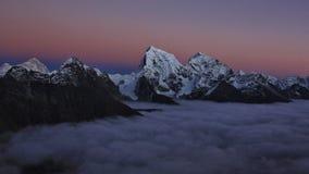 Tramonto rosa in Himalaya Immagine Stock Libera da Diritti