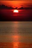 Tramonto rosso Fotografie Stock Libere da Diritti