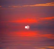 Tramonto rosso fotografia stock libera da diritti