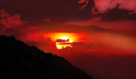 tramonto rosso Fotografia Stock