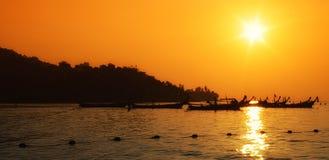 tramonto Rosso-arancione Fotografia Stock
