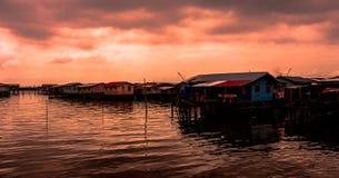 Tramonto in Sandakan Malasya fotografie stock libere da diritti