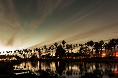 Tramonto a Santa Barbara immagine stock