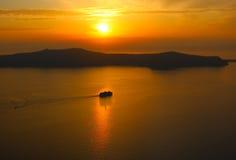 Tramonto in Santorini Immagine Stock Libera da Diritti