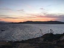 Tramonto在Sardegna 免版税库存照片
