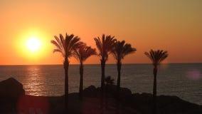 Tramonto in Sardegna. Splendido tramonto visto dalla spiaggia di Arbatax in Sardegna stock photo