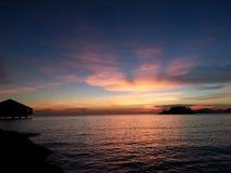 tramonto a sattahip Fotografia Stock Libera da Diritti