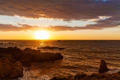 Tramonto scenico della costa di California fotografie stock libere da diritti