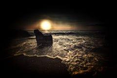 Tramonto scuro profondo fotografie stock libere da diritti