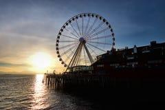 Tramonto a Seattle Fotografia Stock Libera da Diritti