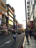Tramonto a Seoul Fotografia Stock Libera da Diritti
