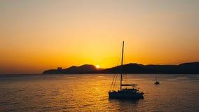 Tramonto a Ses Salines es Vedra, Ibiza fotografie stock libere da diritti