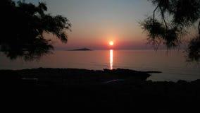 Tramonto Siciliano. Tramonto sul mare di palermo e sullo sfondo isola delle femmine Royalty Free Stock Photography