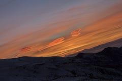 Tramonto in Sierra Nevada, Granada, Spagna Immagini Stock Libere da Diritti
