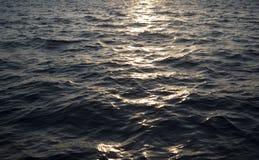 Tramonto sopra acqua Immagine Stock Libera da Diritti