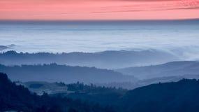 Tramonto sopra California Rolling Hills Fotografia Stock Libera da Diritti