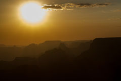 Tramonto sopra Grand Canyon #1 Fotografie Stock