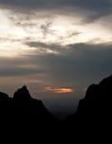 Tramonto sopra il bacino di Chisos Fotografia Stock Libera da Diritti