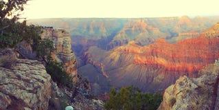 Tramonto sopra il grande canyon Fotografie Stock Libere da Diritti