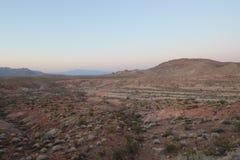 Tramonto sopra il lago Mead National Recreation Area Fotografia Stock Libera da Diritti