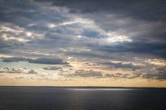 Tramonto sopra il Mar Baltico Fotografia Stock Libera da Diritti
