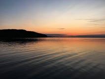 Tramonto sopra il Mar Baltico Fotografie Stock