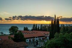 Tramonto sopra il Mar Nero fotografia stock libera da diritti