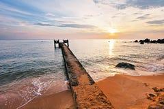 Tramonto sopra il mare Fotografie Stock