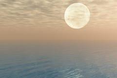 Tramonto sopra il mare Illustrazione Vettoriale
