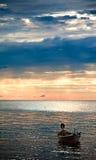 Tramonto sopra il mare di Andaman Fotografie Stock Libere da Diritti