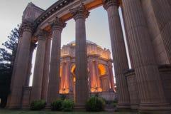 Tramonto sopra il palazzo delle belle arti, San Francisco Fotografia Stock Libera da Diritti