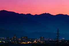 Tramonto sopra Innsbruck Immagine Stock Libera da Diritti