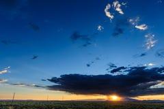 Tramonto sopra l'Arizona Fotografia Stock Libera da Diritti
