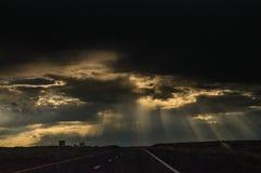 Tramonto sopra l'Arizona Fotografie Stock