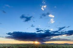 Tramonto sopra l'Arizona Immagini Stock Libere da Diritti
