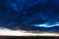 Tramonto sopra l'Arizona Fotografia Stock