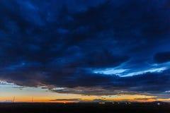 Tramonto sopra l'Arizona Fotografie Stock Libere da Diritti