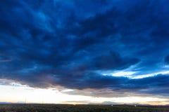 Tramonto sopra l'Arizona Immagine Stock Libera da Diritti