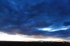 Tramonto sopra l'Arizona Immagini Stock