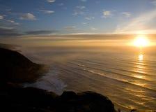 Tramonto sopra l'oceano Immagini Stock Libere da Diritti