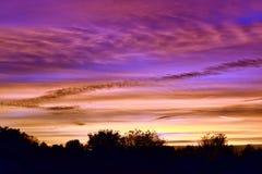 tramonto sopra l'orizzonte Fotografia Stock Libera da Diritti