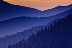 Tramonto sopra l'uragano Ridge, parco nazionale olimpico, Washington State, U.S.A. fotografia stock libera da diritti