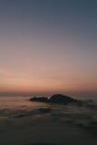 Tramonto sopra la costa in Tailandia Fotografie Stock