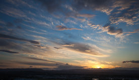 Tramonto sopra la retroterra del Gold Coast fotografia stock