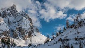 Tramonto sopra la valle di inverno Fotografie Stock