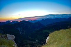 Tramonto sopra le alpi svizzere Immagine Stock Libera da Diritti